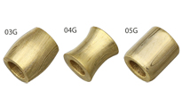 Grindworx  Gold Plated Damascus Barrel Beads by Grindworx