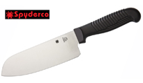 Spyderco Santoku Plain Black  by Spyderco