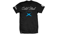 Cold Steel Cursive Black Tee Shirt  by Cold Steel