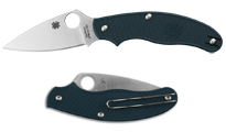 Spyderco UK Penknife Lightweight Dark Blue CPM S110V by Spyderco