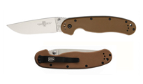 Ontario Rat-1 D2 Linerlock Coyote Brown 8867CB by Ontario Knife