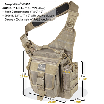 MAXPEDITION JUMBO L.E.O. S-TYPE™ VERSIPACK®